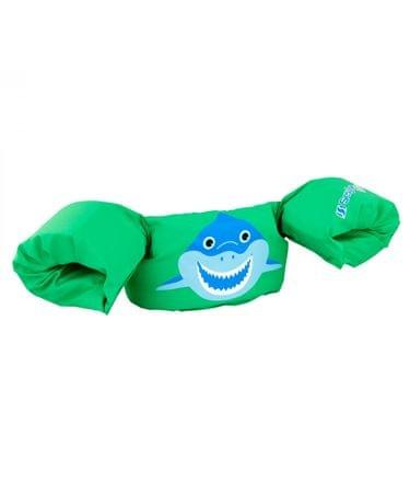 Sevylor jopič z rokavčki Puddle Jumper Deluxe, zeleni morski pes