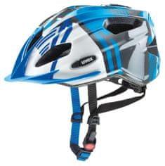 Uvex kolesarska čelada Quatro Junior 2017, modra/srebrna