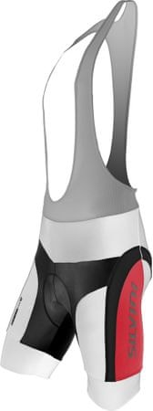 Silvini kolesarske hlače Merre MP605, bele/rdeče, M