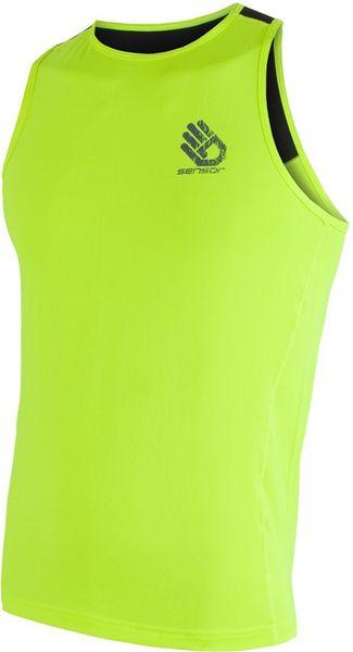 Sensor Coolmax Fresh PT Hand pánské triko bez rukávů žl.reflex/černá L