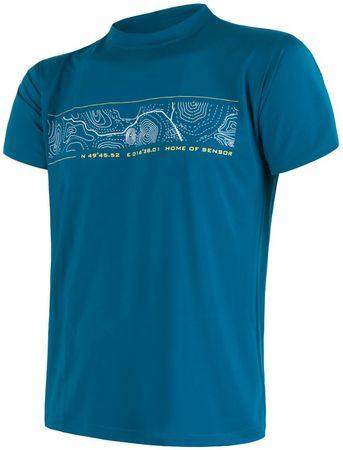 Sensor moška majica Coolmax Fresh GPS, modra, XL