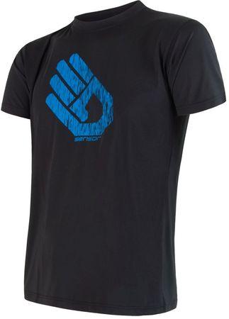 Sensor moška majica Coolmax Fresh Hand, črna, L