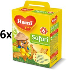 Hami Sušenky Safari - 6 x 180g