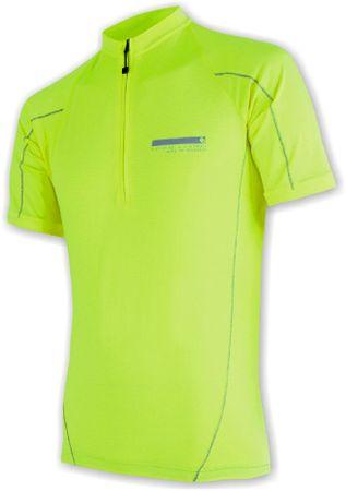 Sensor moška kolesarska majica Entry, rumena, S