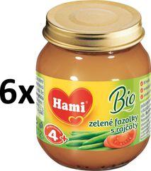 Hami BIO zelené fazolky s rajčaty - 6x125 g