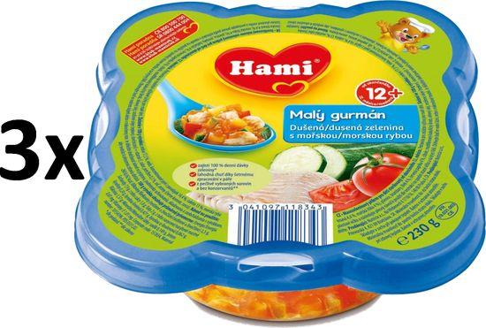 Hami Dušená zelenina s mořskou rybou - 3x230g