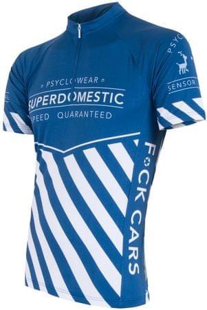 Sensor kolesarska majica Superdomestic, modra, XXL