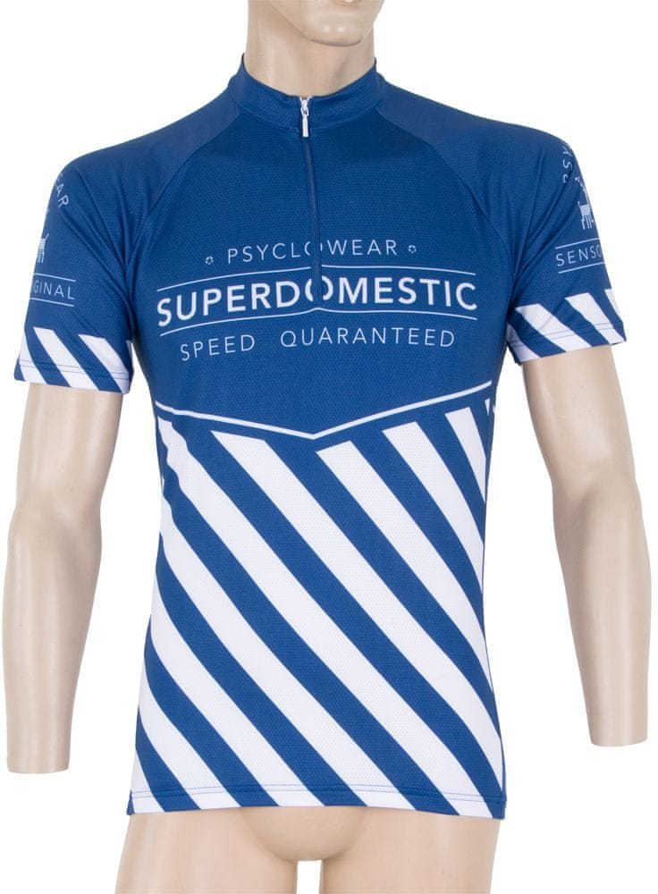 Sensor Superdomestic pánský dres kr.ruk. modrá - M