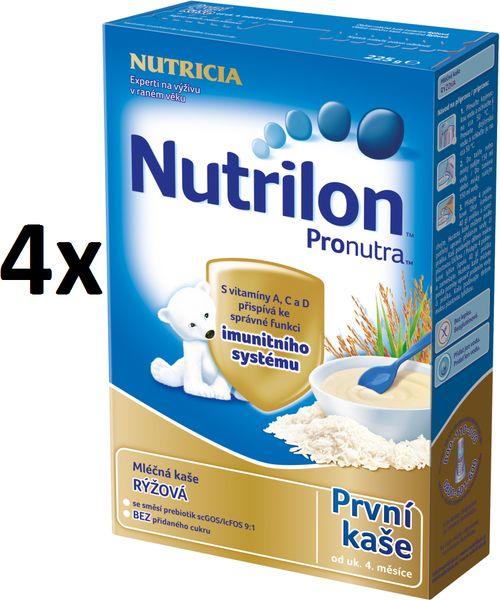 Nutrilon Mléčná kaše rýžová - 4 x 225g