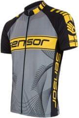Sensor moška majica Cyklo Team, črna/rumena