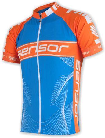 Sensor moška majica Cyklo Team, modra/oranžna, M