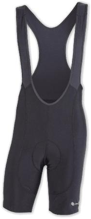Sensor moške kratke hlače z naramnicami Cyklo Entry, črne, S