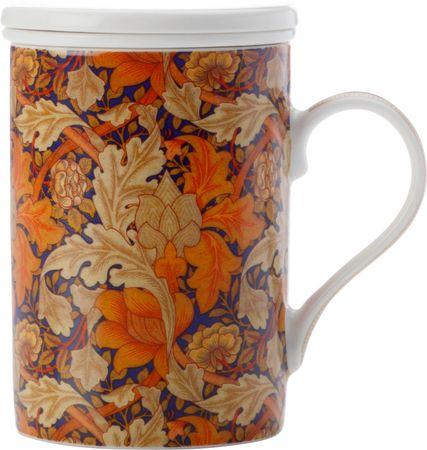 Maxwell & Williams Hrnček s porcelánovým sitkom 350 ml Acanthus