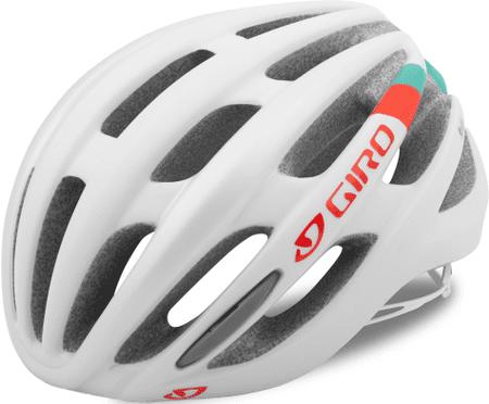 Giro Saga Mat White/Turq/Vermillion S (51–55 cm)