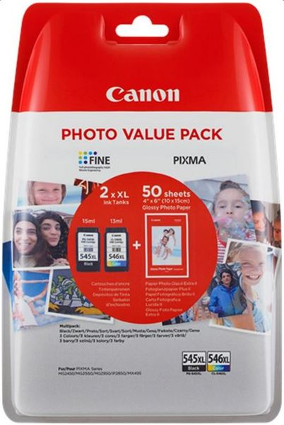 Canon PG-545 XL/CL-546 XL + 50x GP-501