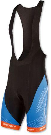 Sensor Męskie spodnie rowerowe z szelkami Cyklo Team Black-Blue
