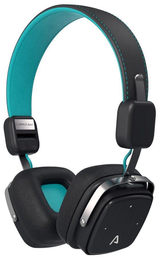 LAMAX Beat Elite E-1 bezdrátová sluchátka, černá/modrá