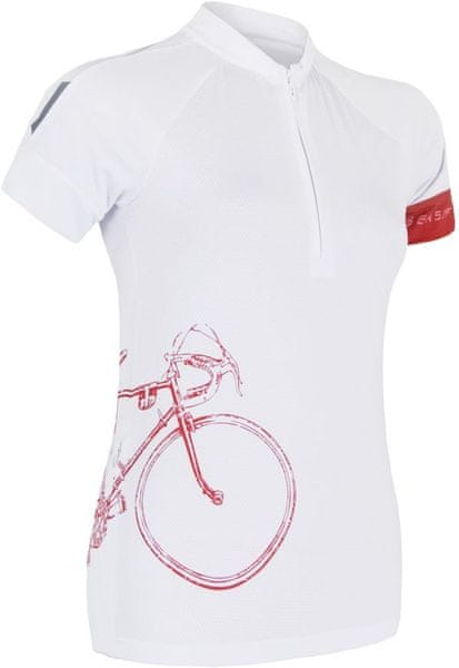 Sensor Cyklo Tour dámský Dres kr.ruk. bílá