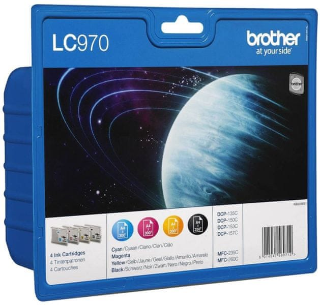 Brother LC970VALBP, Bk + C/M/Y Pack