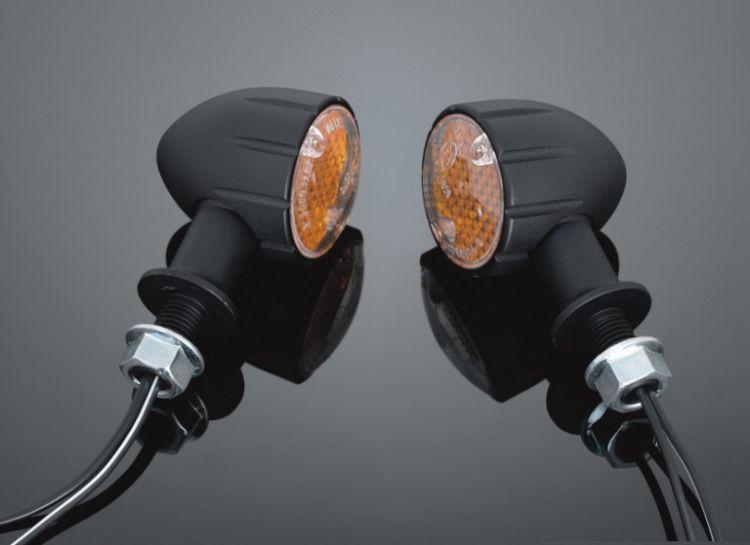 Highway-Hawk moto blinkry TECH GLIDE s dlouhou nožičkou, E-mark, černá (2ks)