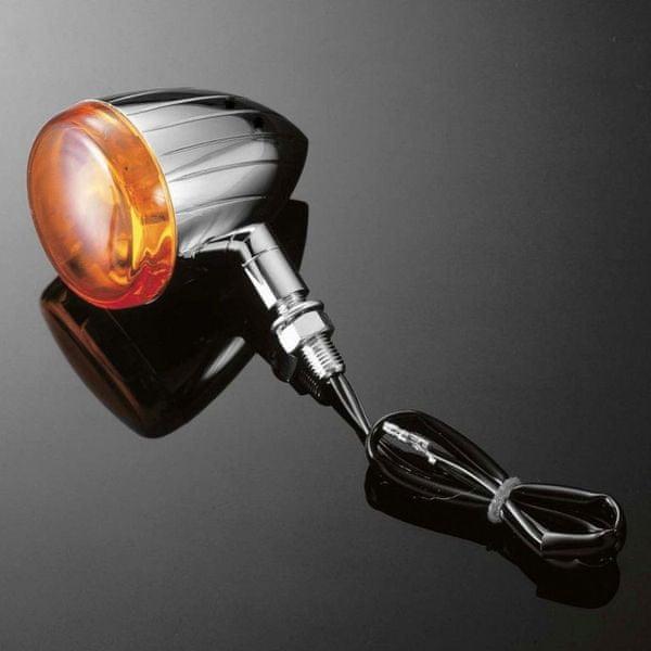 Highway-Hawk moto blinkry TECH GLIDE grooved 60mm, E-mark, chrom (1ks)
