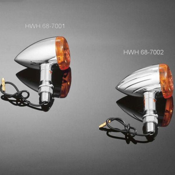 Highway-Hawk moto blinkry TECH GLIDE grooved 38mm, E-mark, chrom (2ks)
