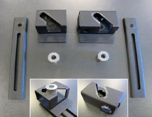 Highway-Hawk rychloupínací systém pro boční kufry/pevné brašny - univerzální (sada)
