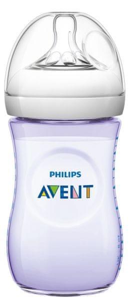 Avent Láhev Natural 260 ml, fialová