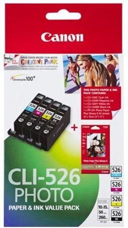 Canon CLI-526 C / M / Y / BK (4540B017), barevná