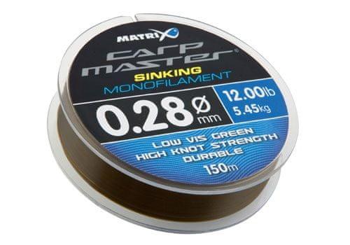 Fox Matrix Vlasec Carpmaster Sinking Mono 150 m 0,25 mm, 4,55 kg