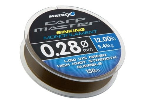 Fox Matrix Vlasec Carpmaster Sinking Mono 150 m 0,18 mm, 2,5 kg