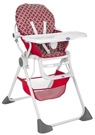 Chicco Jídelní židlička Pocket Lunch, Red Wave