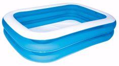 Bestway Modrý štvorhranný rodinný bazén