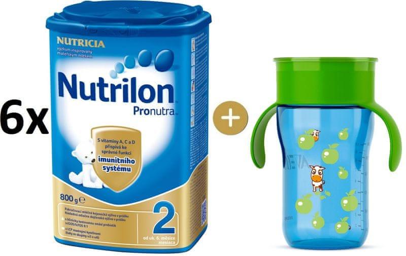 Nutrilon 2 Pronutra - 6×800g + Avent První hrneček