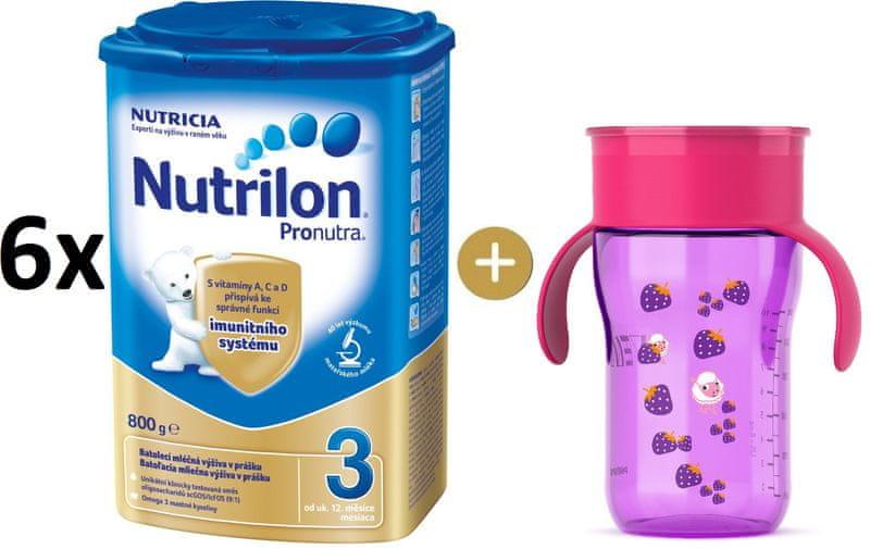 Nutrilon 3 Pronutra - 6×800g + Avent První hrneček