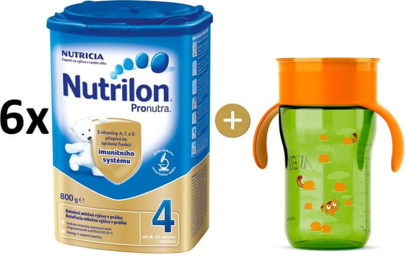 Nutrilon 4 Pronutra - 6×800g + Avent První hrneček
