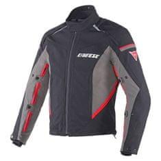 Dainese pánská moto bunda  RAINSUN D-DRY černá/tmavě šedá/červená, textilní