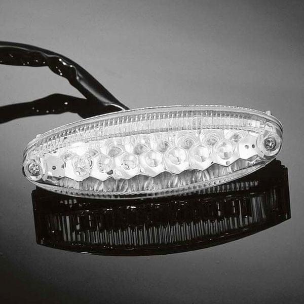 Highway-Hawk koncové moto světlo LED OVAL, osvětlení SPZ, E-mark (1ks)