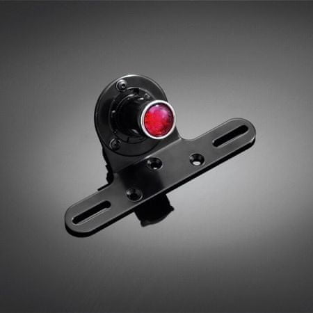 Highway-Hawk moto světlo koncové  SHOTGUN s držákem SPZ, E-mark, LED, černá (1ks)