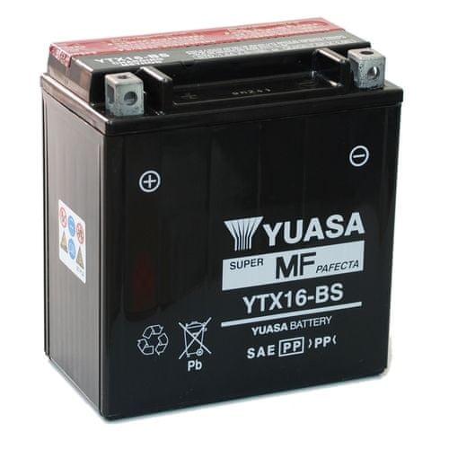 Yuasa baterie 12V 14Ah YTX16-BS (dodáváno s kyselinovou náplní)