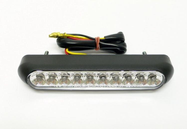 Highway-Hawk koncové světlo na motorku OVAL s LED, osvětlení SPZ, E-mark, černá (1ks)