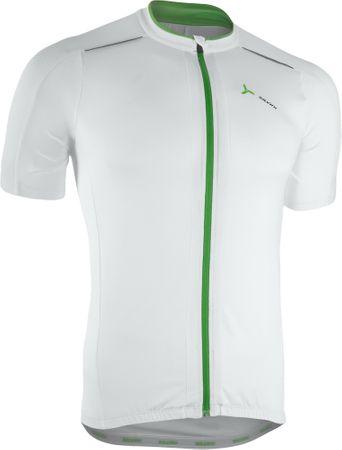 Silvini moška kolesarska majica Ceno MD1000, belo-zelena, M