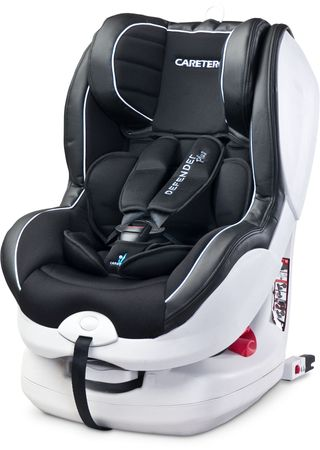 Caretero Fotelik Defender Plus 9-18 kg ISOFIX, Black
