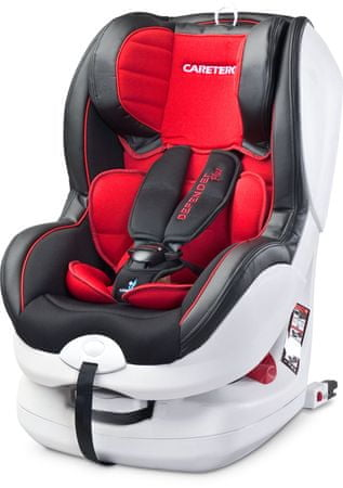Caretero Fotelik Defender Plus 9-18 kg KG ISOFIX, Red