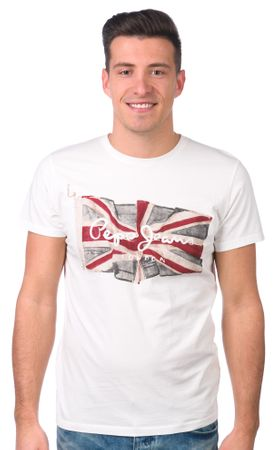 Pepe Jeans moška majica Flag Logo XL bela