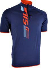 Silvini moška kolesarska in MTB majica Turano MD1013, modro-oranžna