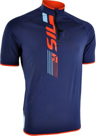 Silvini moška kolesarska in MTB majica Turano MD1013, modro-oranžna, M