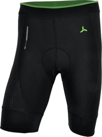 Silvini moške kolesarske hlače Fortore MP 1003, kratke, črno-zelene, M