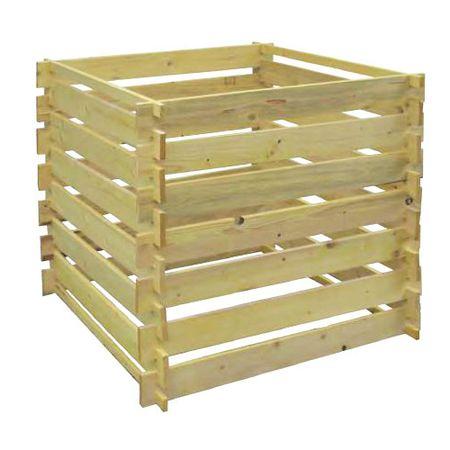 Portoss Leseni kompostnik, 80 × 80 × 80 cm