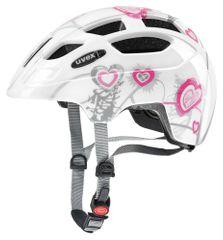 Uvex kolesarska čelada Finale Junior Led (2017), bela/roza
